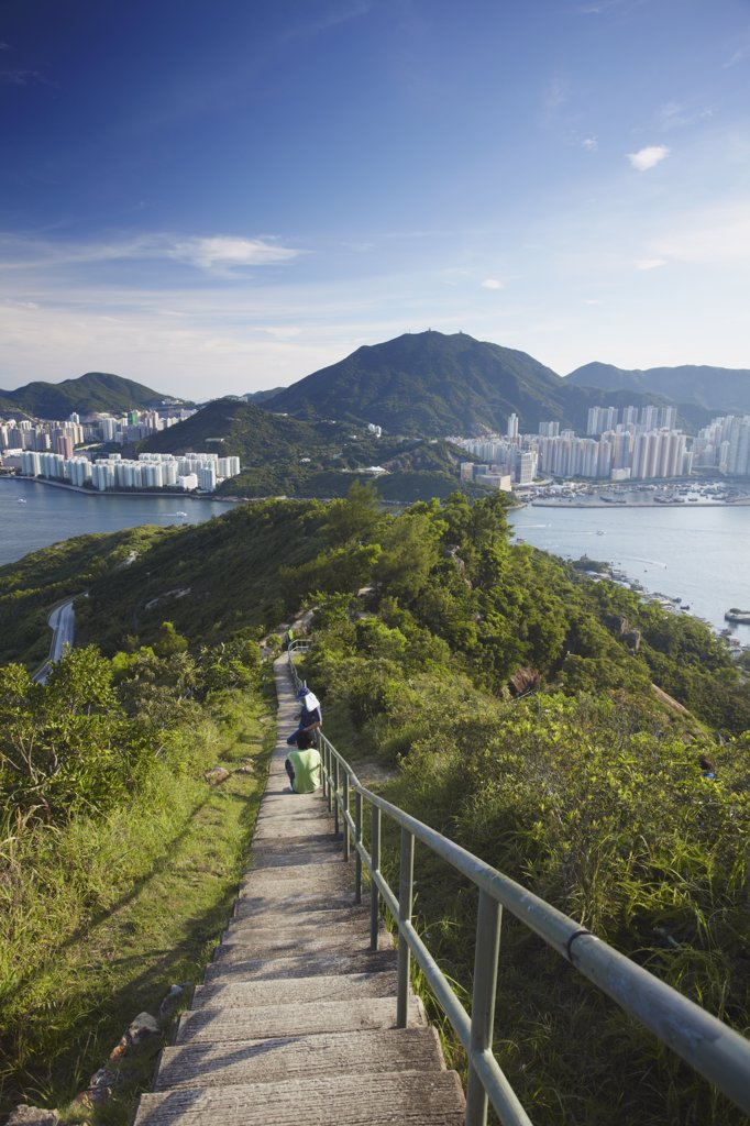 Stock Photo: 4272-38373 View of Shau Kei Wan on Hong Kong Island from Devil's Peak, Kowloon, Hong Kong, China