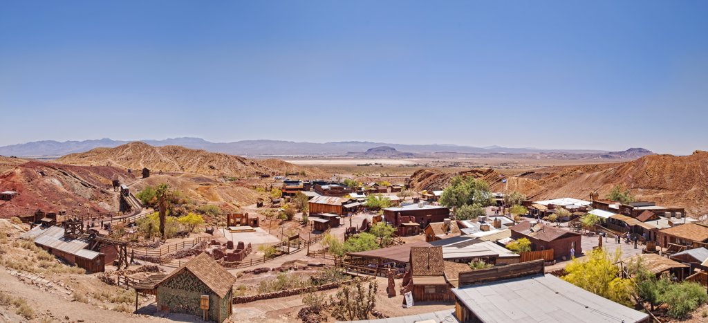Stock Photo: 4272-39500 United States, USA, California, San Bernardino County, Calico Ghost town, an ancient mining town.