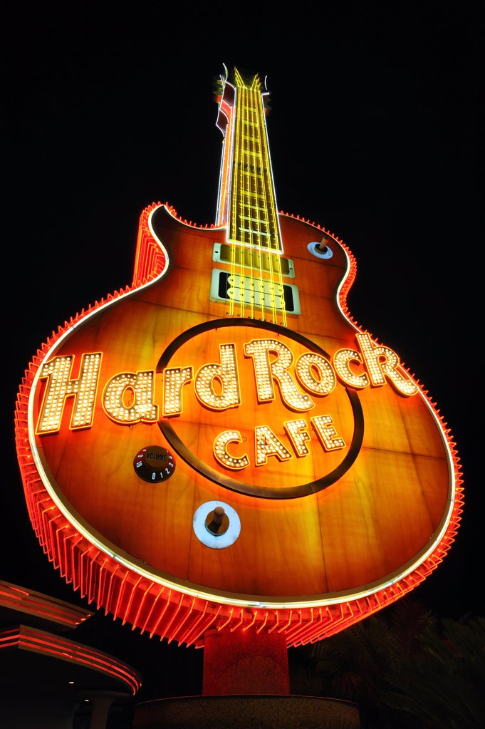 Stock Photo: 4272-39544 U.S.A., Nevada, Las Vegas, Hard Rock Cafe
