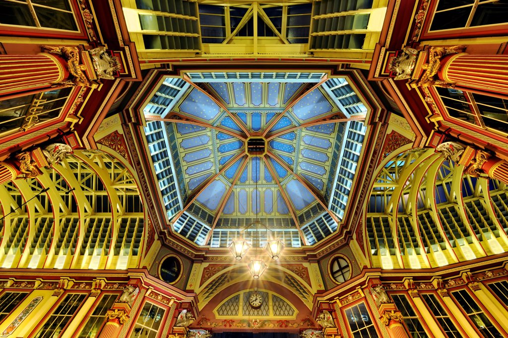 Europe, England, London, Leadenhall Market : Stock Photo