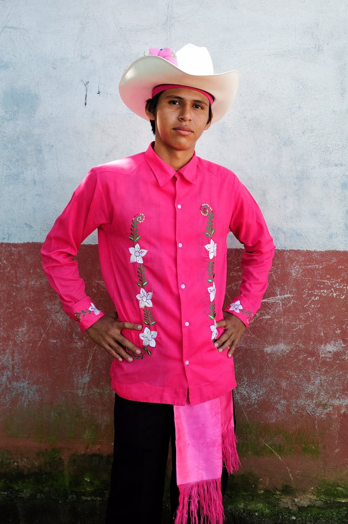 Man in traditional dress in Catarina, Nicaragua, Central America : Stock Photo