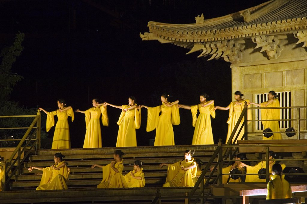 Stock Photo: 4272-4102 Zen Music Shaolin Grand Ceremony, a Dance and Musical Performance in Shaolin, Henan Province, China