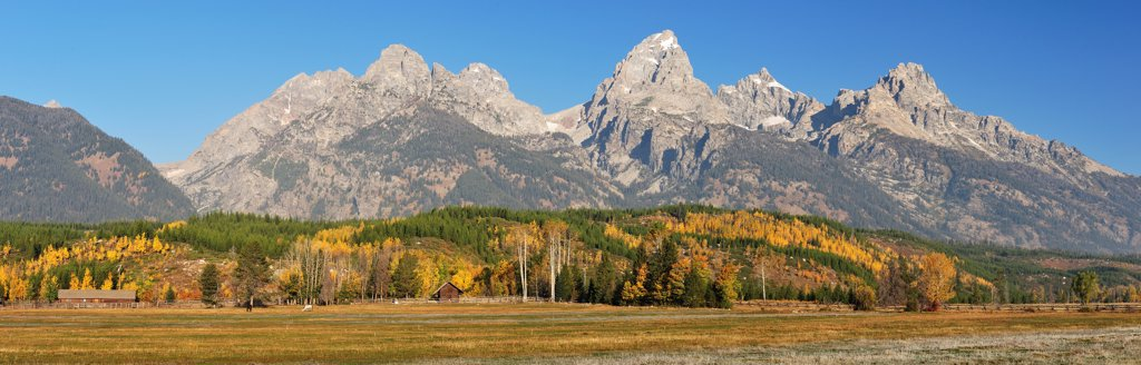 Stock Photo: 4272-41068 Teton Range in Grand Teton National Park, Wyoming, USA