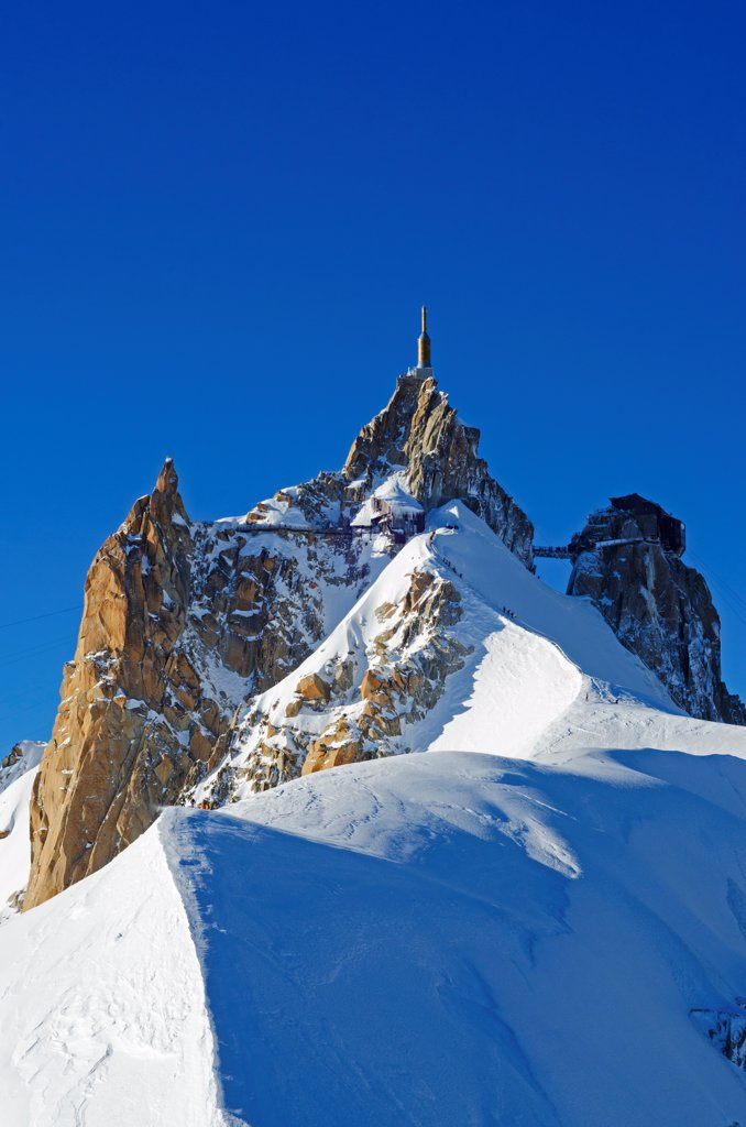 Stock Photo: 4272-41577 Europe, France, French Alps, Haute Savoie, Chamonix, Aiguille du Midi
