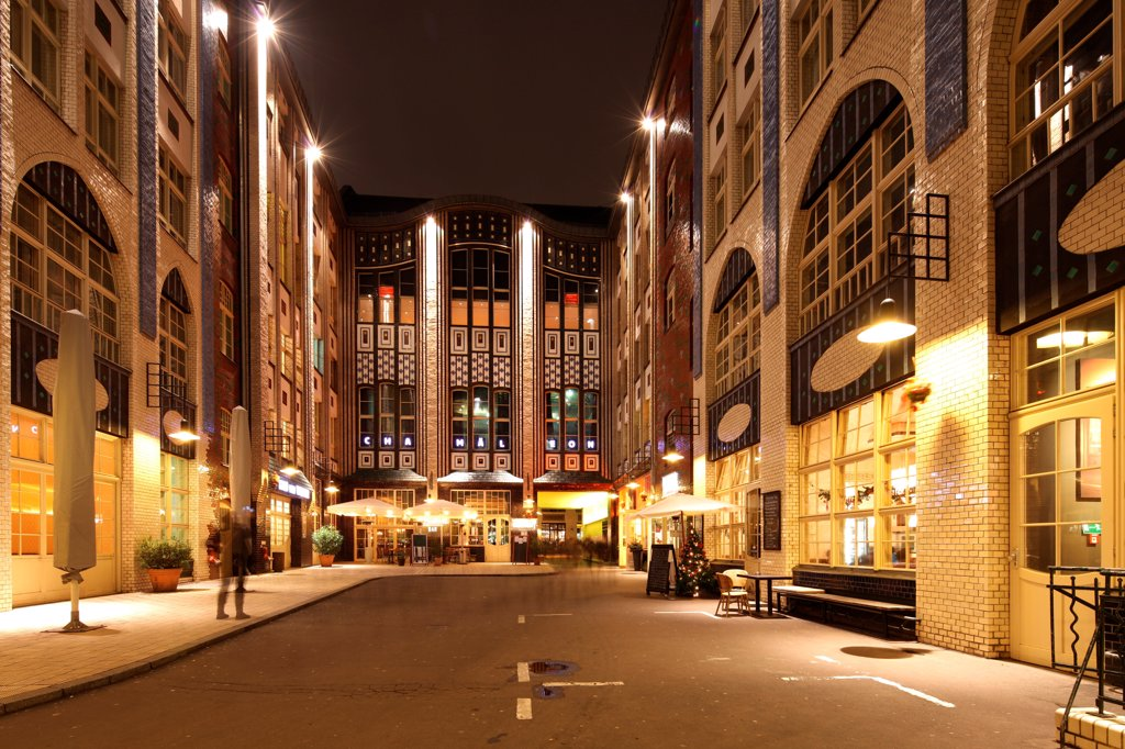 Stock Photo: 4272-41782 The Hackesche Höfe is a notable courtyard complex situated adjacent to the Hackescher Markt in the centre of Berlin, Germany.