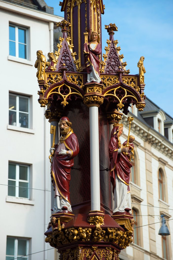 Stock Photo: 4272-43206 Europe, Switzerland, Basel, Religious Statue