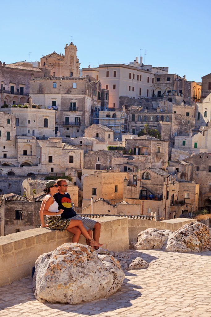 Stock Photo: 4272-45927 Italy, Basilicata, Matera district, Matera, Sassi di Matera, meaning stones of Matera,