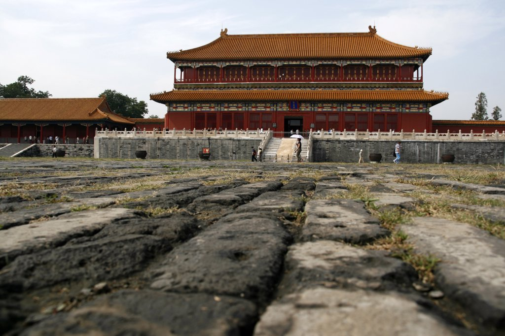 Stock Photo: 4272-5314 China, Beijing. Inside the Forbidden City in Beijing, China.