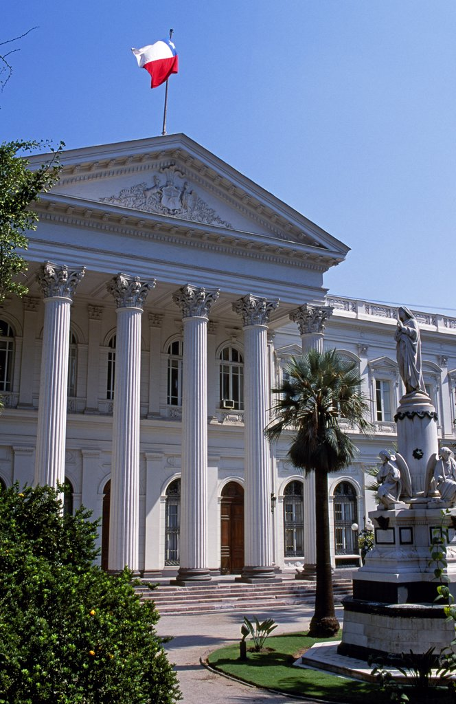 Ex Congreso Nacional (Congress building until dissolved by Pinochet's coup) : Stock Photo