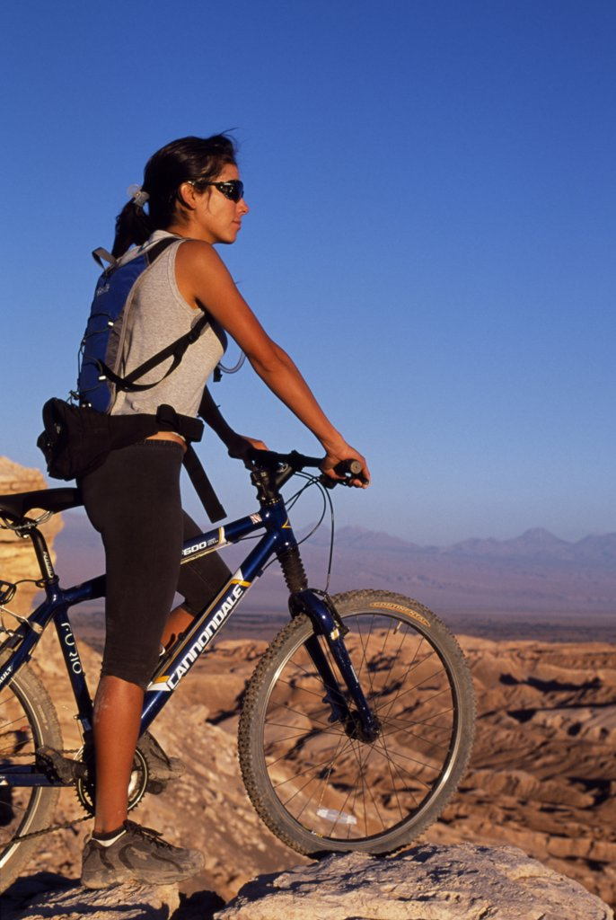Stock Photo: 4272-6245 Mountain biking in the Atacama Desert