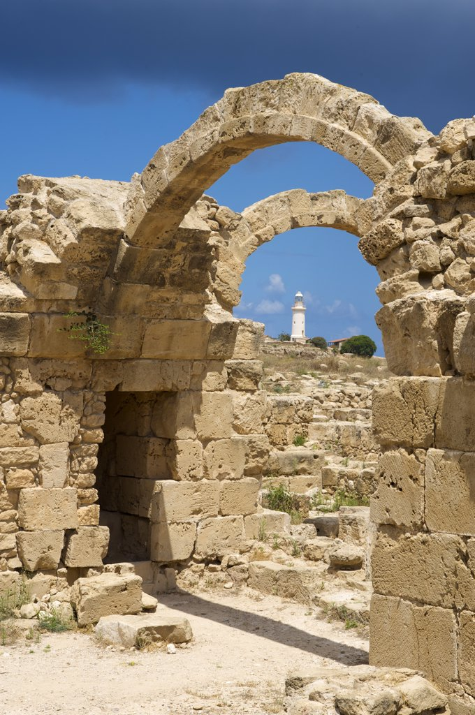 Stock Photo: 4272-7092 Archeological Site, Saranda Kolones, Paphos, Cyprus
