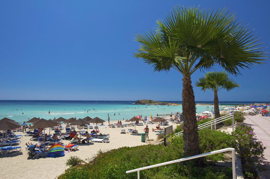 Nissi Beach in Agia Napa, Cyprus : Stock Photo