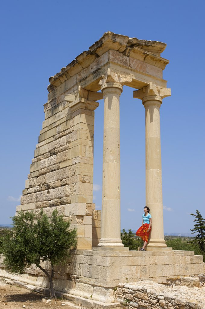 Stock Photo: 4272-7115 Apollon Hylates, Archeological Site, Kourion, Cyprus, MR