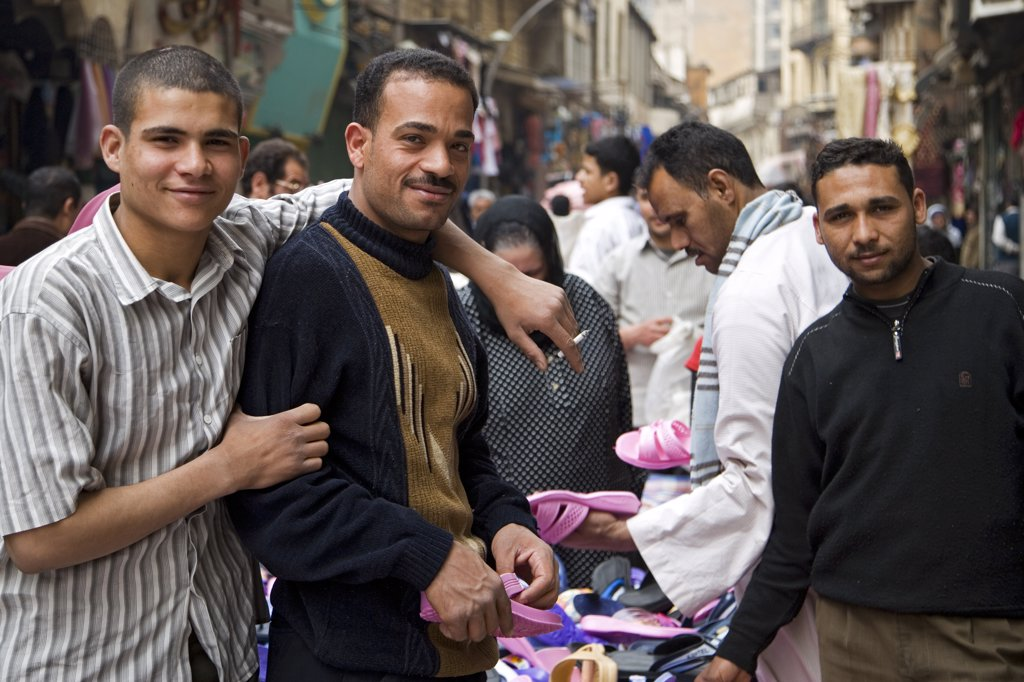 Stock Photo: 4272-7607 Characters in the market on Sharia El Muski near Khan el-Khalili, Cairo, Egypt.