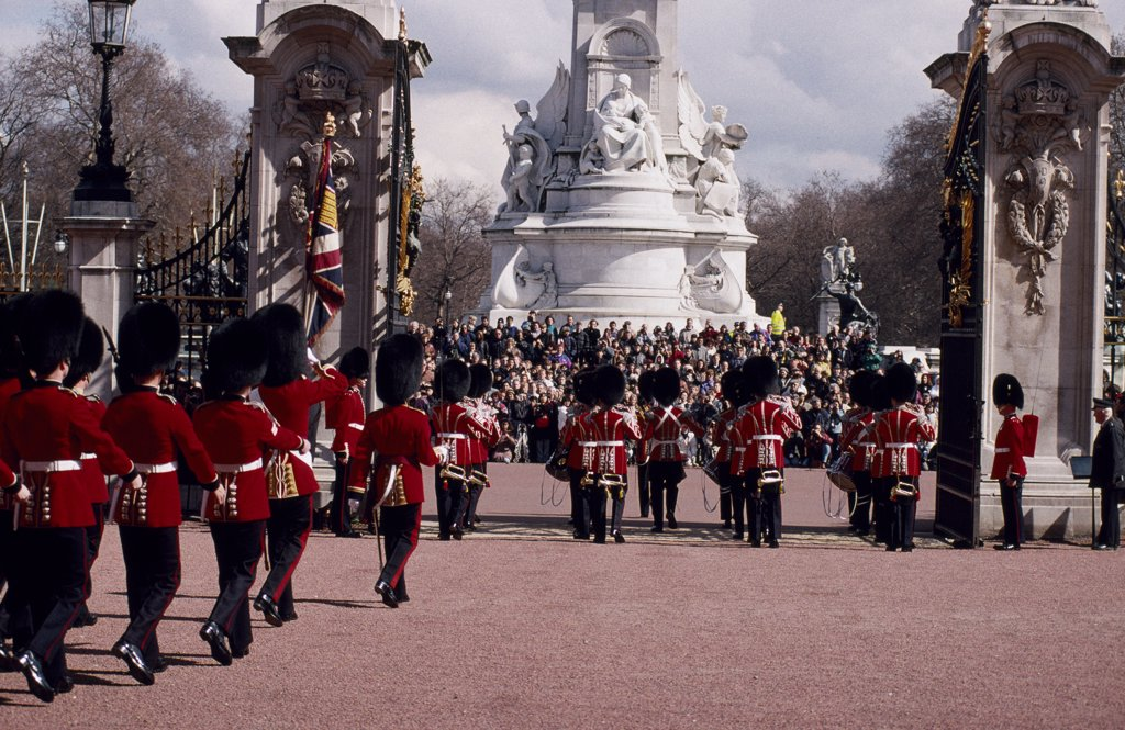 Bandsmen during Changing of the Guard : Stock Photo