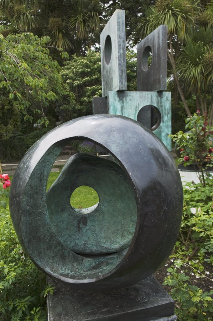 Stock Photo: 4272-8452 Sculpture by 20th Century British sculptress, Dame Barbara Hepworth, on display at the Barbara Hepworth Museum in St Ives, Cornwall, England