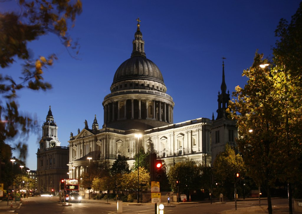 England, London. London St. Paul's Cathedral : Stock Photo
