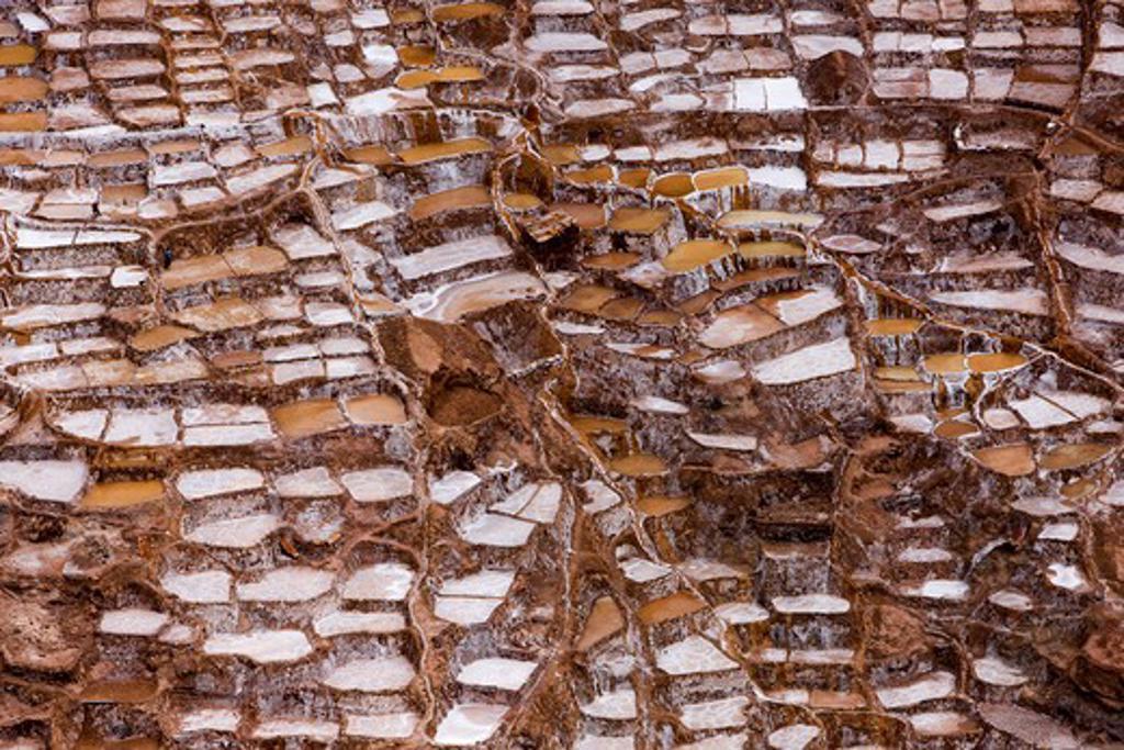 Maras Salt Mines, Salinas Near Tarabamba In Peru : Stock Photo