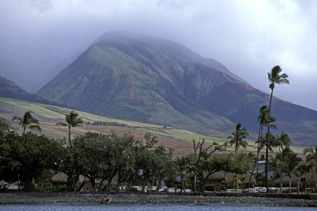Stock Photo: 4273-16036 Maui Island in Hawaii, Beach and Mountain