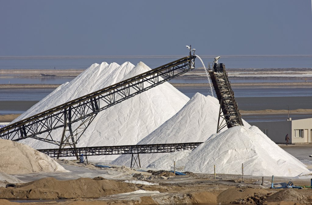 Stock Photo: 4273-16692 Saltworks Near Walvis Bay in Namibia