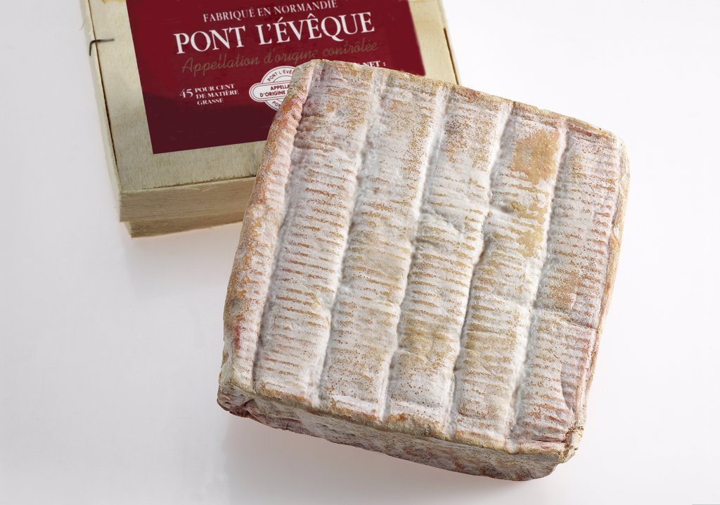 Stock Photo: 4273-17762 Pont l'Eveque, French Cheese from Normandy produced from Cow's Milk