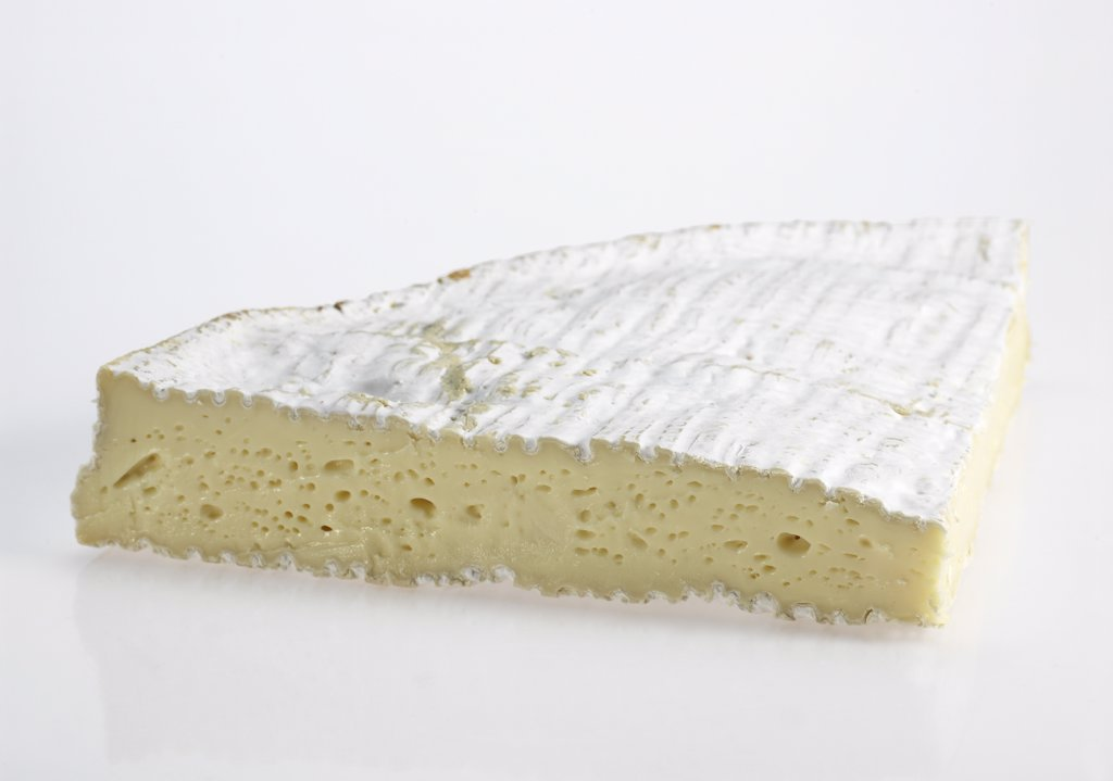 Brie de Meaux, French Cheese made with Cow Milk : Stock Photo