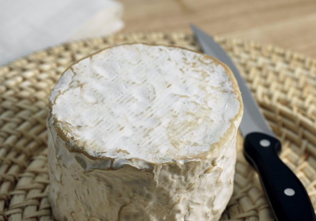 Brillat Savarin, French Cheese made with Cow Milk : Stock Photo