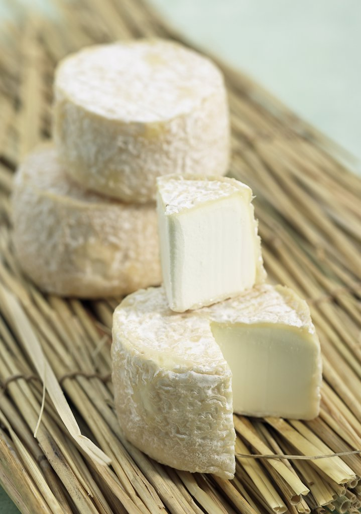 Stock Photo: 4273-17916 French Cheese Called Crottin, Cheese made with Goat Milk
