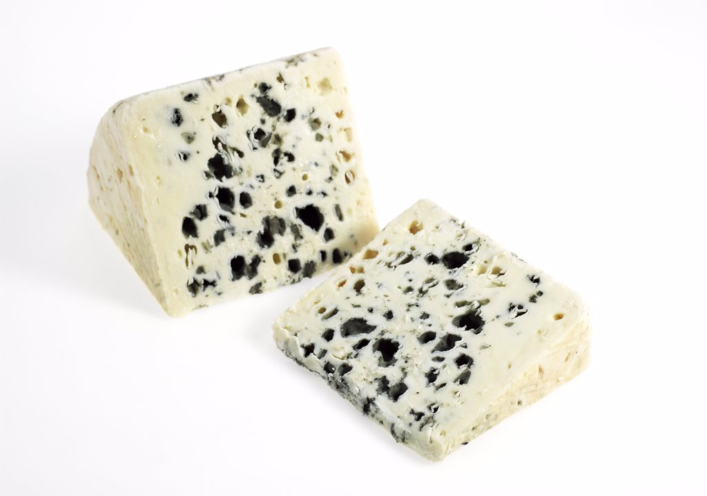 Stock Photo: 4273-17922 French Cheese called Roquefort, Cheese made from Ewe's Milk