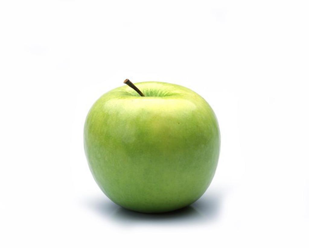 Stock Photo: 4273-5245 Granny Smith Apple, Malus Domestica, Fruit Against White Background