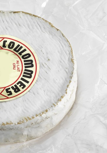 French Cheese Called Coulommiers, Cheese Made With Cow'S Milk : Stock Photo