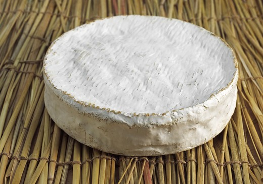 Stock Photo: 4273-5899 French Cheese Called Coulommiers, Cheese Made With Cow'S Milk