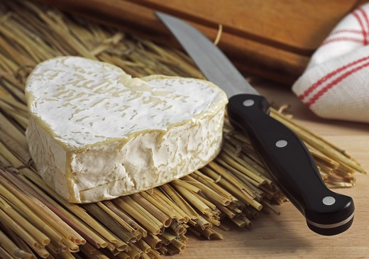 Neufchatel, French Cheese Made In Normandy From Cow'S Milk : Stock Photo