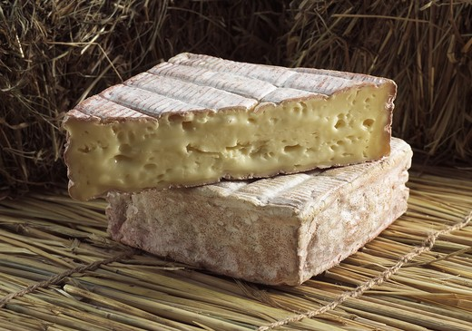 Stock Photo: 4273-5912 Pont L'Eveque, French Cheese Produced In Normandy From Cow'S Milk