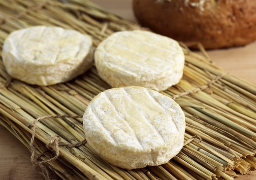 Stock Photo: 4273-5917 French Cheese Called Saint Marcellin Produced From Cow'S Milk