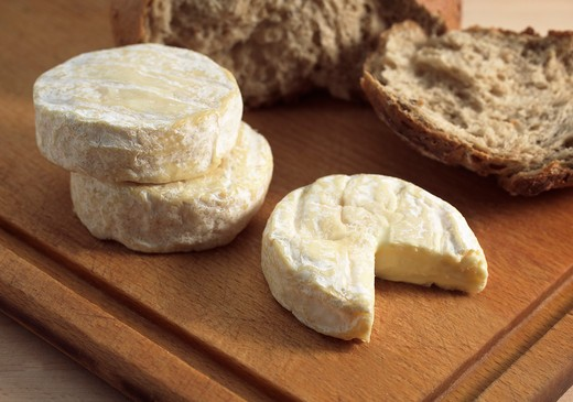 Stock Photo: 4273-6030 Saint Marcellin, A French Cheese Made From Cow'S Milk