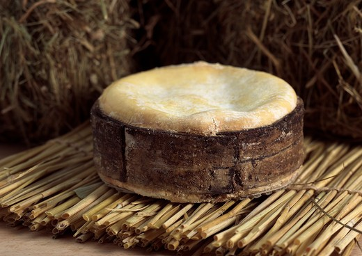 Cheese Called Vacherin Mont D'Or, Made From Cow'S Milk In Switzerland And Jura In France : Stock Photo