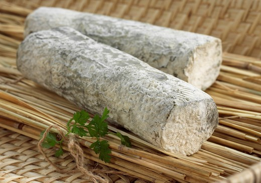 Stock Photo: 4273-6148 Sainte Maure Cheese, A French Cheese Made From Goat'S Milk