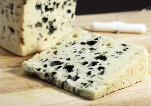 French Cheese Called Roquefort, Cheese Made With Ewe'S Milk : Stock Photo