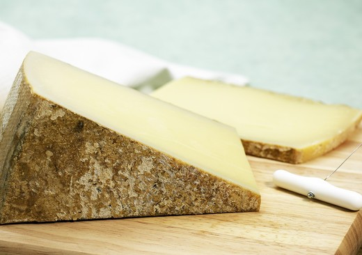 Stock Photo: 4273-6281 French Cheese Called Comte Fruite, Cheese Made From Cow'S Milk