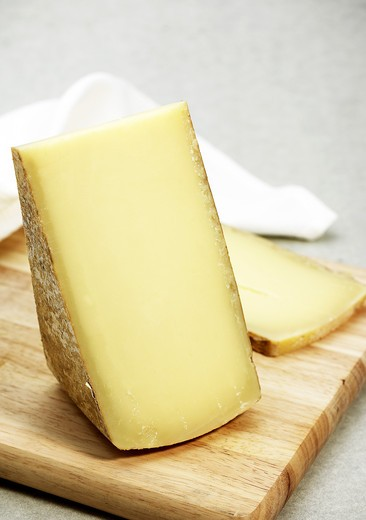 Stock Photo: 4273-6282 French Cheese Called Comte Fruite, Cheese Made From Cow'S Milk