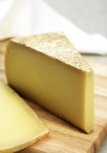 Stock Photo: 4273-6283 French Cheese Called Comte Fruite, Cheese From Jura Made With Cow'S Milk