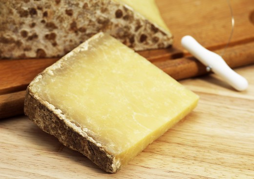 Stock Photo: 4273-6297 French Cheese Called Cantal, Cheese Made From Cow'S Milk