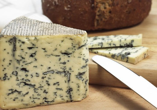 Stock Photo: 4273-6693 Bleu Des Causses, A French Cheese Made With Cow'S Milk