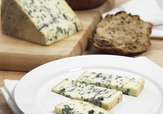Stock Photo: 4273-6694 Bleu Des Causses, French Cheese In Aveyron, Made With Cow'S Milk