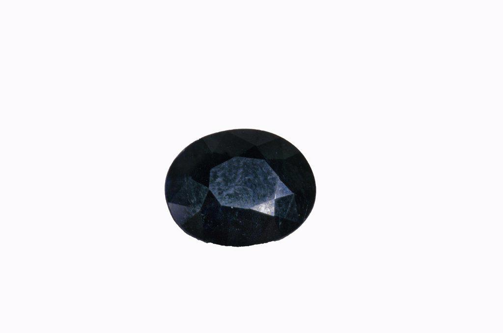 Sapphire Stone Against White Background : Stock Photo