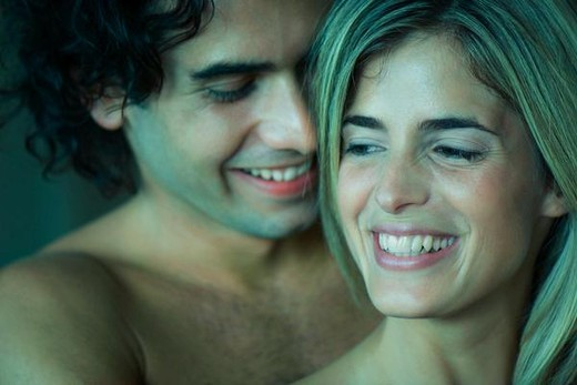 Young couple together smiling : Stock Photo