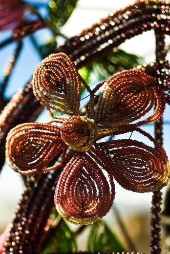 Beaded flower : Stock Photo