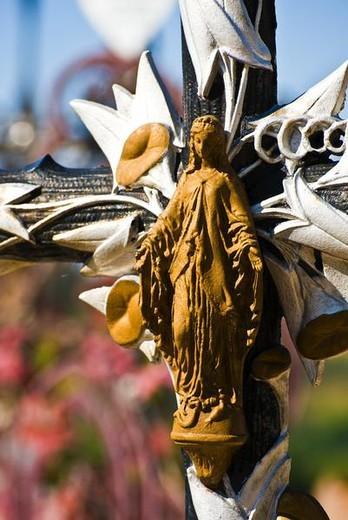 Stock Photo: 4276-4062 Cross bearing image of Virgin Mary