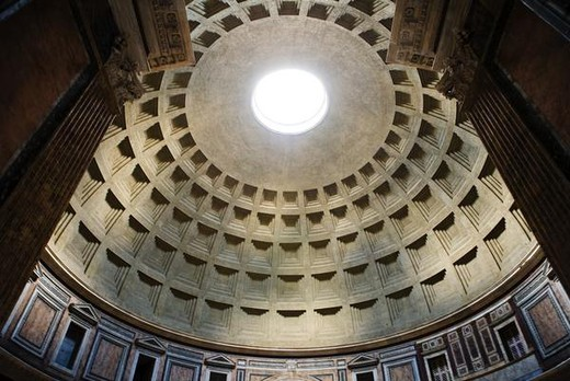 Stock Photo: 4276-4167 Dome of Pantheon, low angle view